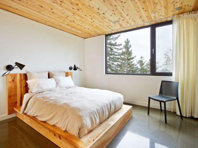Quatre grandes chambres  - Construction d'une résidence au Canada : Malbaie VIII, La Grange