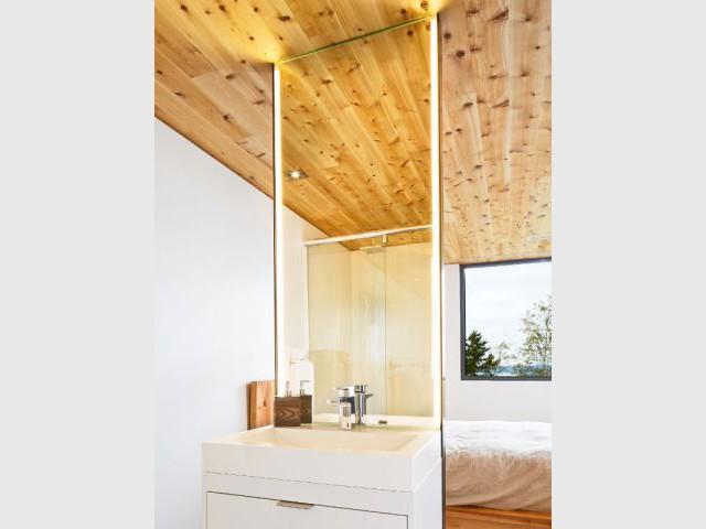 Cèdre blanc et lumière  - Construction d'une résidence au Canada : Malbaie VIII, La Grange