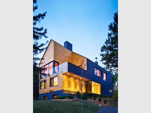 Trois découpes volumétriques  - Construction d'une résidence au Canada : Malbaie VIII, La Grange