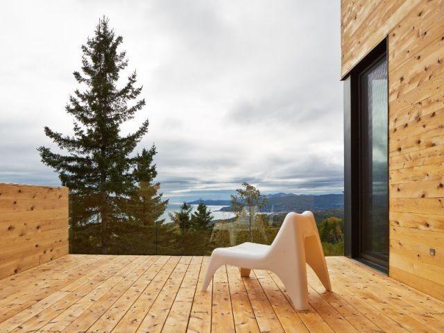 Vue panoramique sur le Saint-Laurent  - Construction d'une résidence au Canada : Malbaie VIII, La Grange