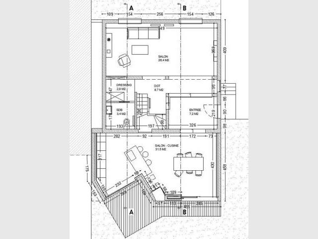 Plan du projet - Extension Asnières - de Marchi
