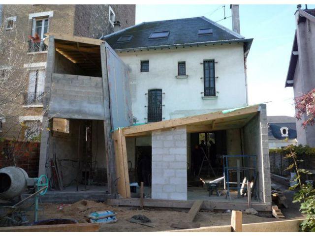 Une extension en l adoss e une maison des ann es 30 - Maison des annees 30 ...
