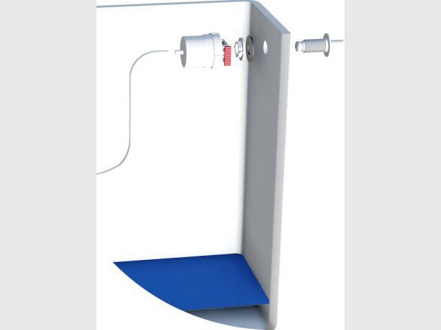 Un bouton de réarmement prévu pour relancer l'alimentation en eau - Un robinet détecteur de fuite innovant