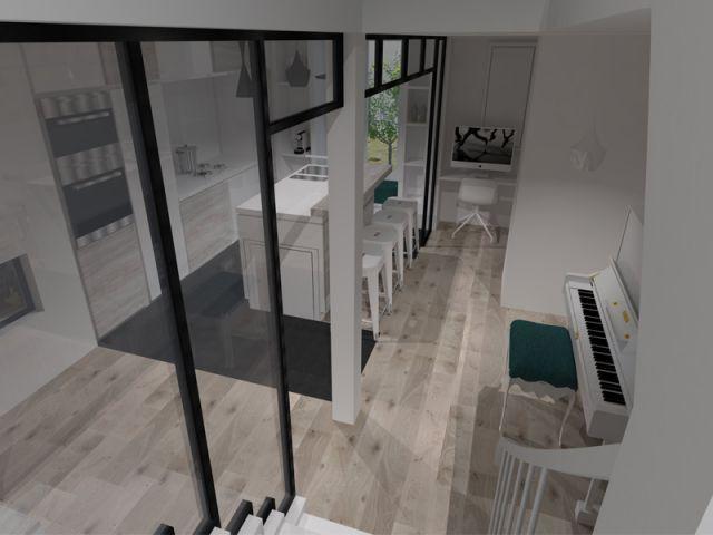 Le piano, élément important du projet - Restructuration rez-de-chaussée