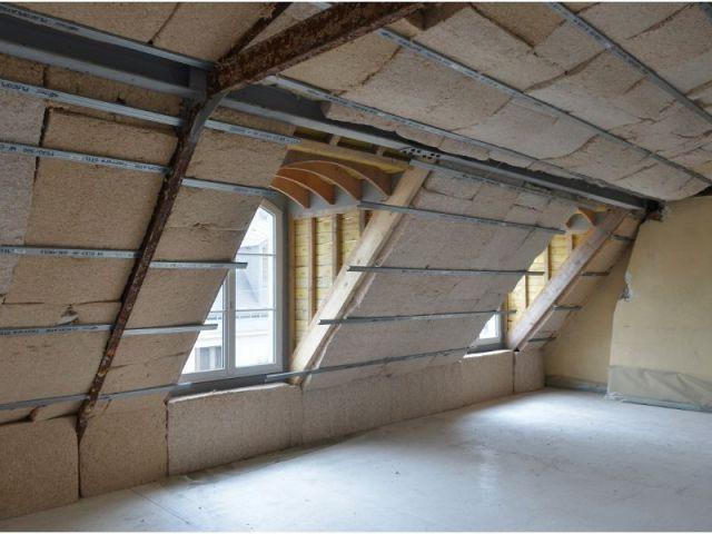 Isolation des murs et toiture - Chantier Isover - Paris 8