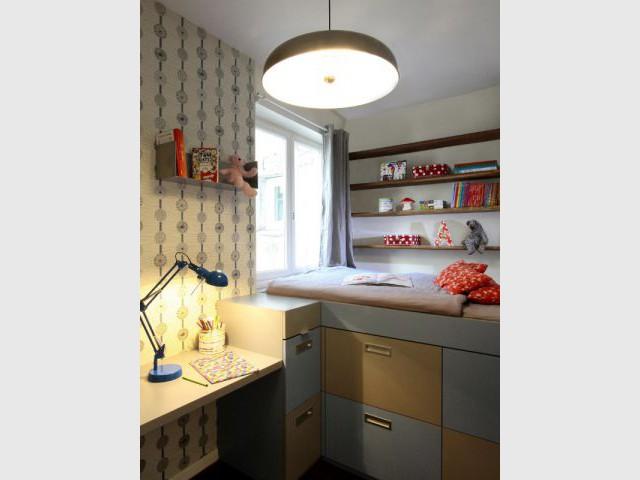 Une nouvelle chambre d'enfant aux rangements encastrés - Rénovation d'un duplex