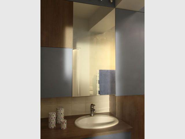 Une salle de bains intime et rafraîchissante  - Rénovation d'un duplex