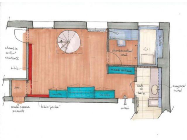 Le plan de masse de la surface rénovée - Rénovation d'un duplex