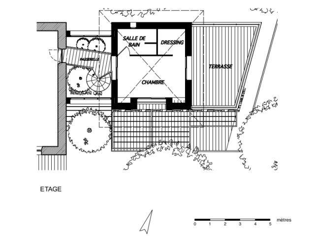 Plan de l'étage de l'extension - Extension - Jose Marcos