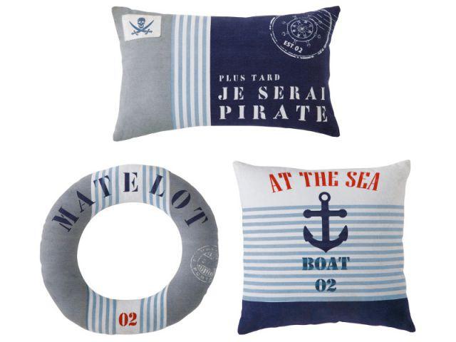 Les coussins d'un vrai matelot - Une décoration d'inspiration marine