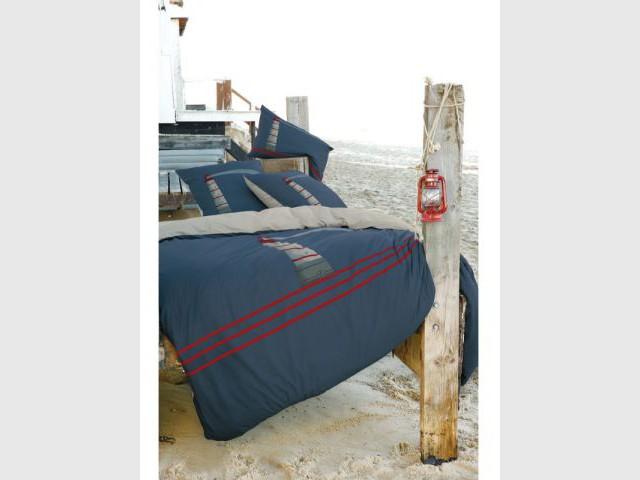 Un lit de bord de mer - Une décoration d'inspiration marine