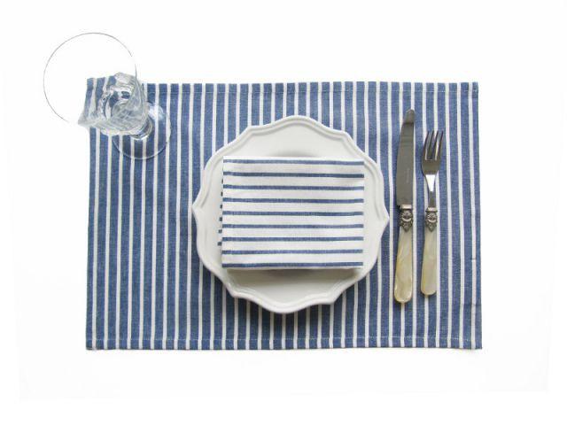 Un set de table moderne et classe - Une décoration d'inspiration marine