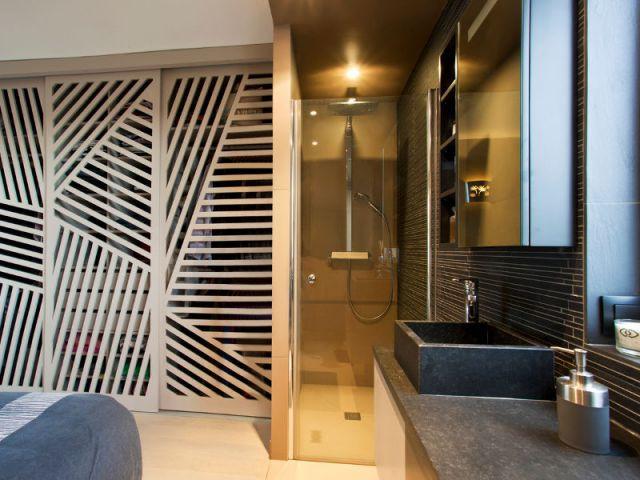 Une douche italienne moderne et classieuse - Appartement familly loft