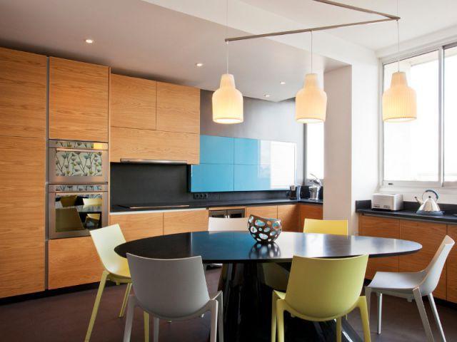 Une cuisine épurée et élégante - Appartement familly loft