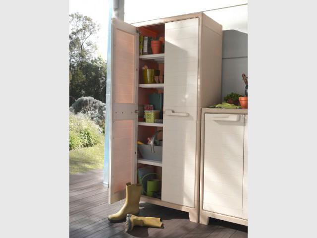 Des armoires fermées pour gagner en discrétion - Des aménagements pour garages et sous-sols