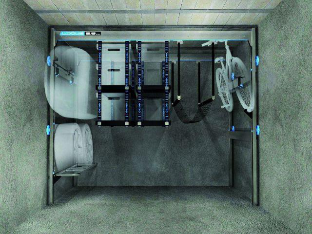 Un portique télescopique pour libérer de la place pour sa voiture - Des aménagements pour garages et sous-sols