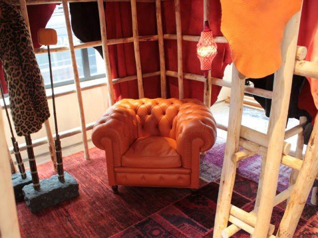 Poltrona frau et sa collection de mobilier installée dans des cabanes - Designer's Days 2014