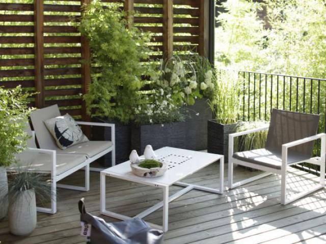 Un balcon végétal et moderne - Une sélection d'aménagements pour balcons