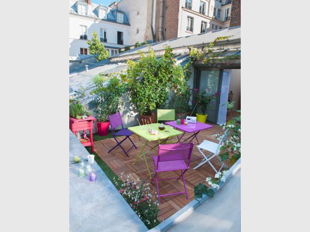 Un balcon décalé et original - Une sélection d'aménagements pour balcons