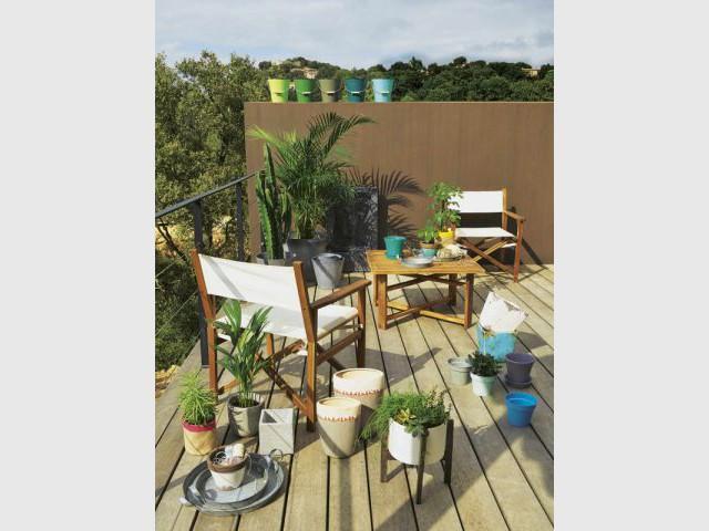 Un balcon exotique - Une sélection d'aménagements pour balcons