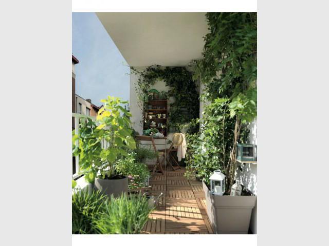 Un balcon 100% végétal - Une sélection d'aménagements pour balcons