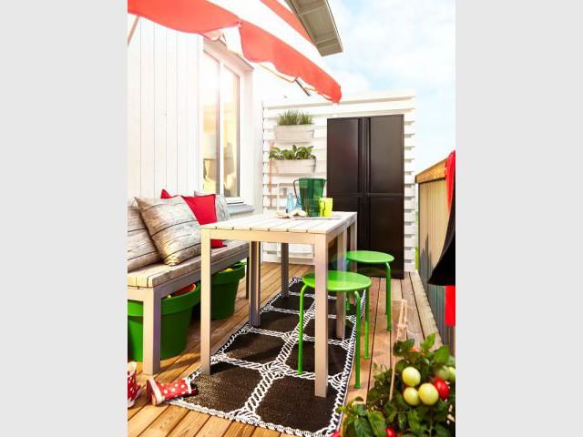 Un balcon bohème chic - Une sélection d'aménagements pour balcons