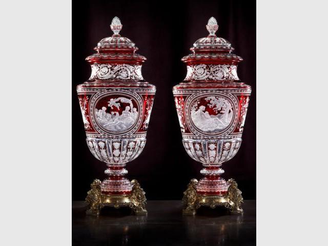 Vases couverts Simon - Baccarat - Baccarat : 250 ans d'excellence et d'Art de vivre