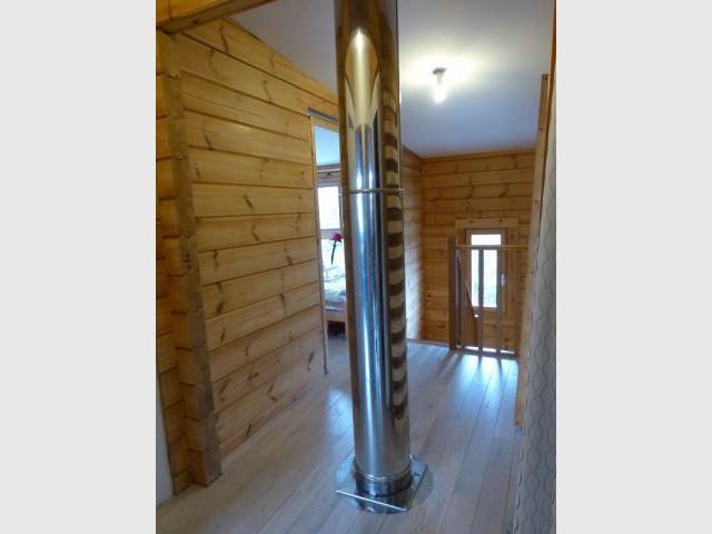 Vraie cheminée - Maison bois Moret sur loing