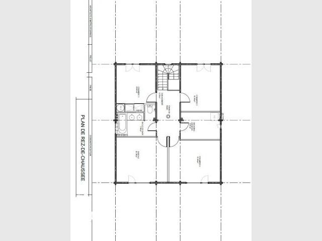Simplicité du plan - Maison bois Moret sur loing