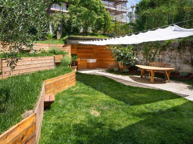 1 jardin sur plusieurs niveaux pour une extension v g tale. Black Bedroom Furniture Sets. Home Design Ideas