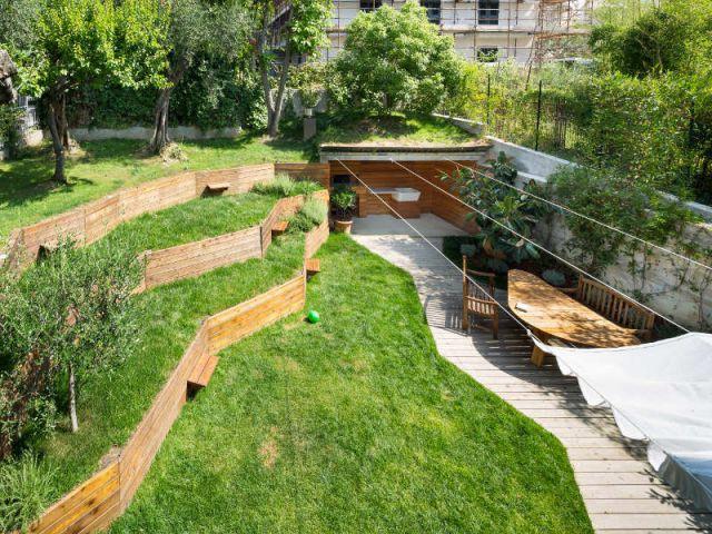 Un jardin qui prend la forme des végétaux - Jardin stratifié en Italie