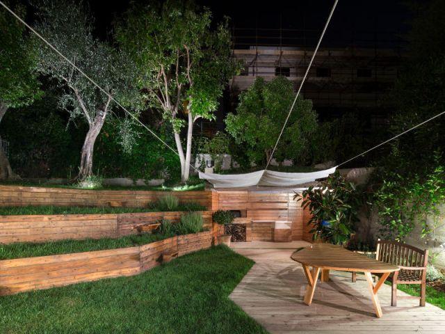 Des LED pour une mise en valeur totale - Jardin stratifié en Italie