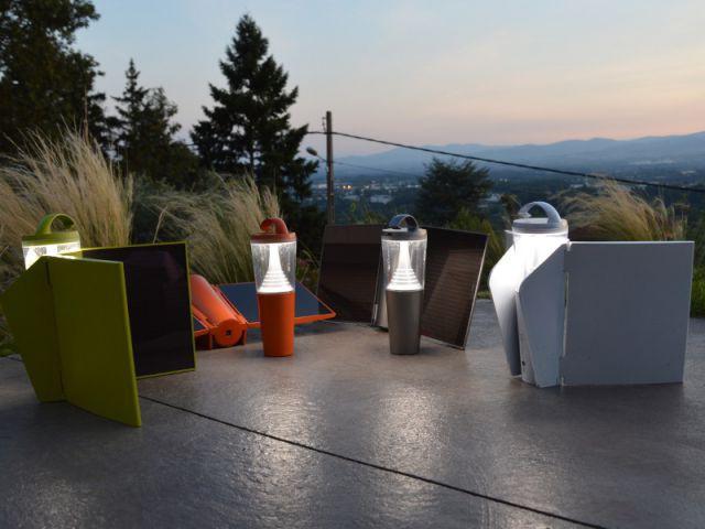 Des luminaires solaires high-tech