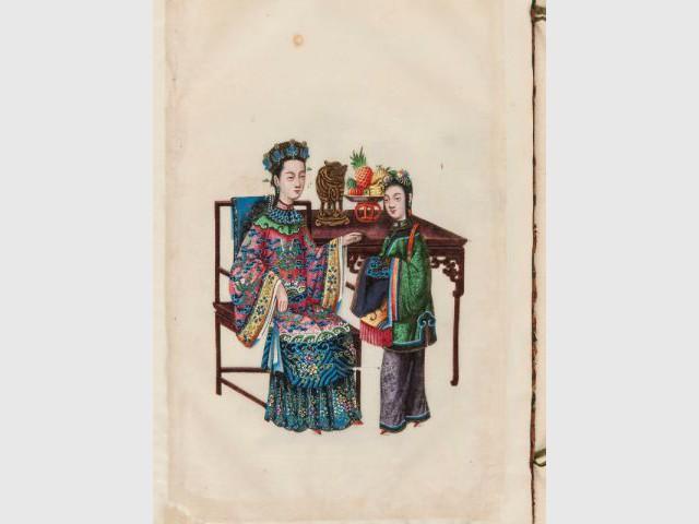Une gouache sur papier de riz - La Chine aux Arts décoratifs