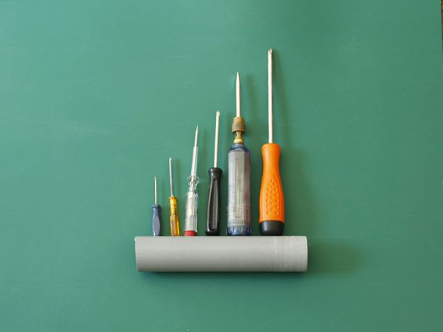Créer un rangement malin avec un tuyau - Prévoir la longueur du tuyau - Créer un rangement malin avec un tuyau