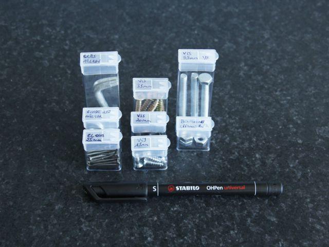 Créer un rangement malin avec des boîtes de Tic tac - Marquer - Créer un rangement malin avec des boîtes de Tictac