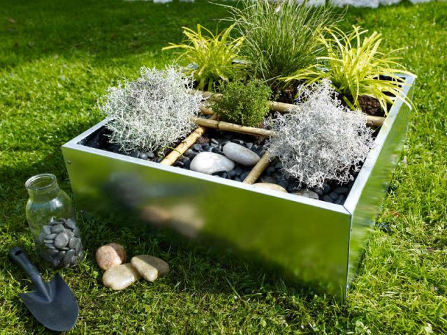 Une jardinière comme une carré potager - Jardinières originales