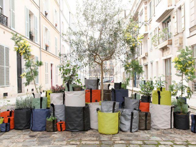 Des jardinières en sac - Jardinières originales