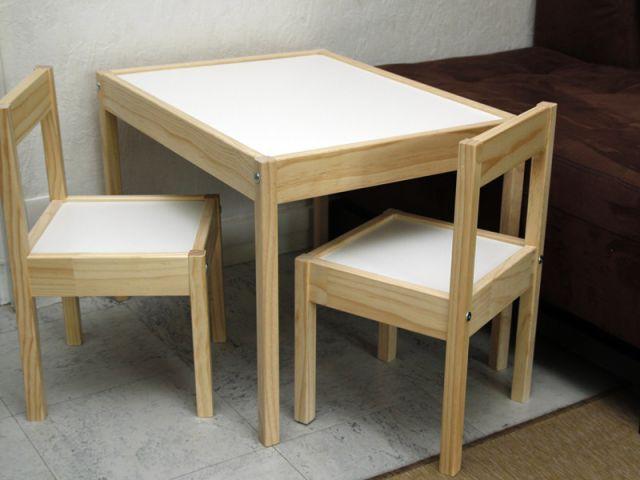 Customiser un meuble pour votre enfant et avec lui une table et des chaises for Table avec chaise enfant