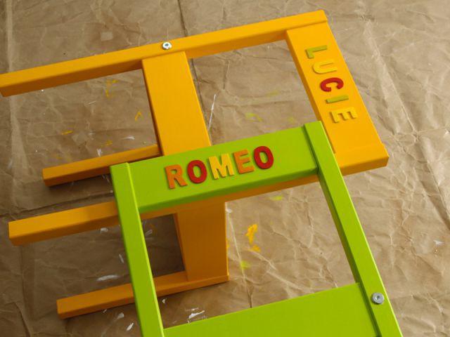 Customiser un meuble pour enfant : personnaliser les chaises étape 2 - Tutoriel customiser mobilier pour enfants