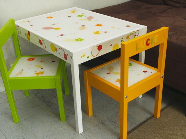 Customiser un meuble pour enfant : le résultat final - Tutoriel customiser mobilier pour enfants