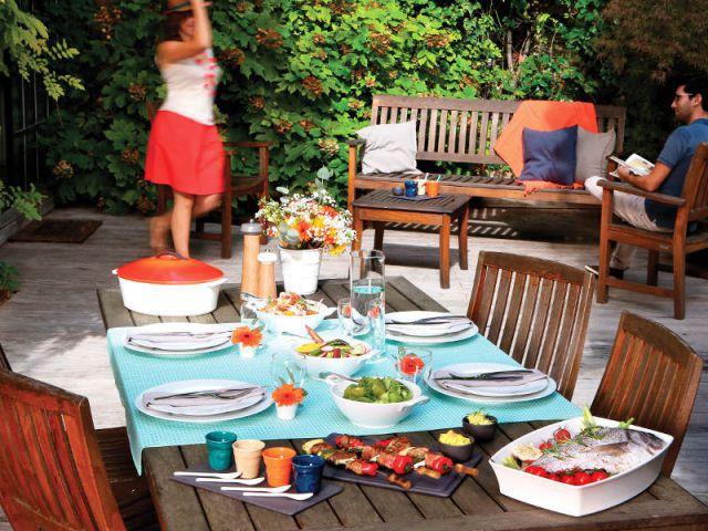 Une table d'été ultra colorée - Table d'été