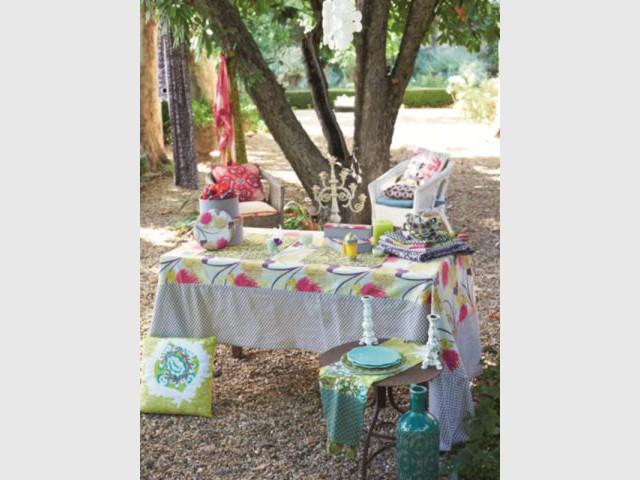 Une table à l'esprit bohème - Table d'été