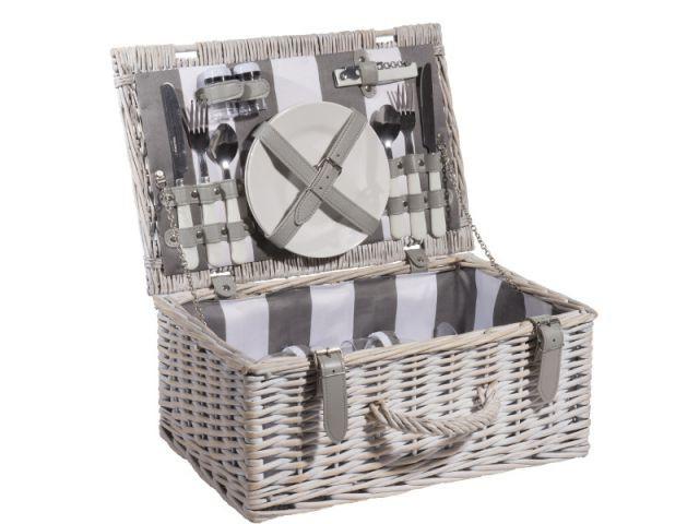 Un nécessaire à pique-nique complet et organisé - Panier à pique-nique