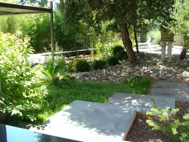 Jardin zen méditérranéen