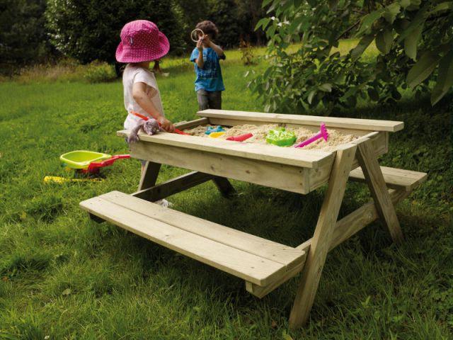Le mobilier d 39 ext rieur indispensable pour les enfants - Castorama bac a sable ...