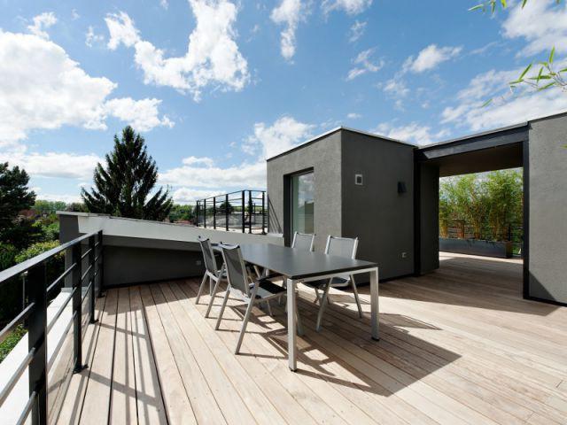 La quête d'un espace de détente tout au long de l'année - Un toit reconverti en terrasse