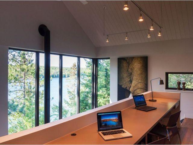 Bureau en mezzanine - Maison Messines