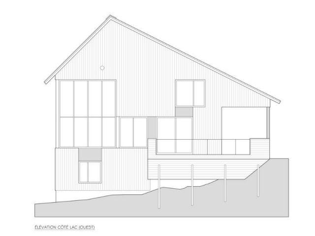 Terrasse à canot suspendu - Maison Messines
