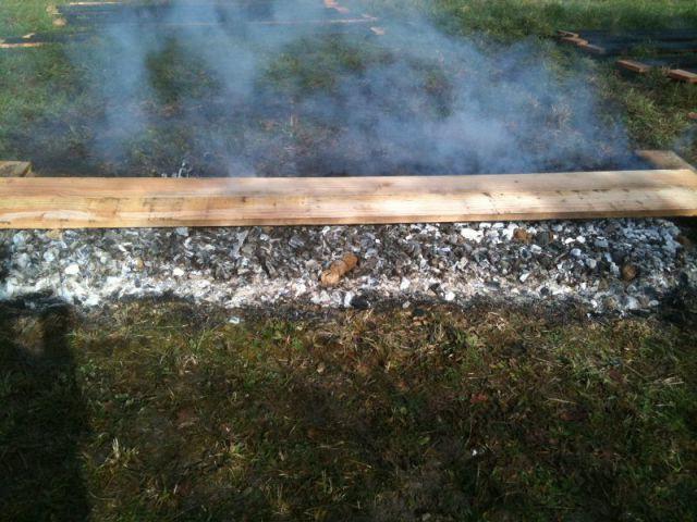 Extension en bois brûlé